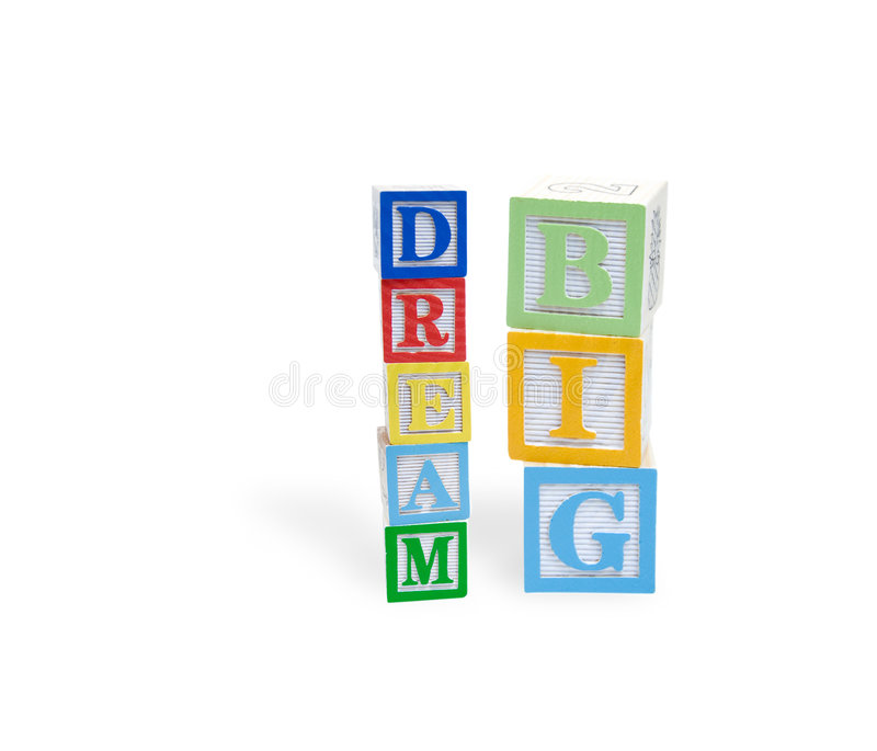 Download Dream Big In A Childs Wooden Blocks Stock Photo - Image: 8403620