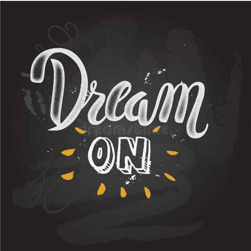 'Dream big' hand painted brush lettering stock illustration