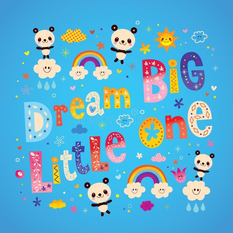 Free Dream Big Little One Kids Nursery Art Stock Photography - 92361622
