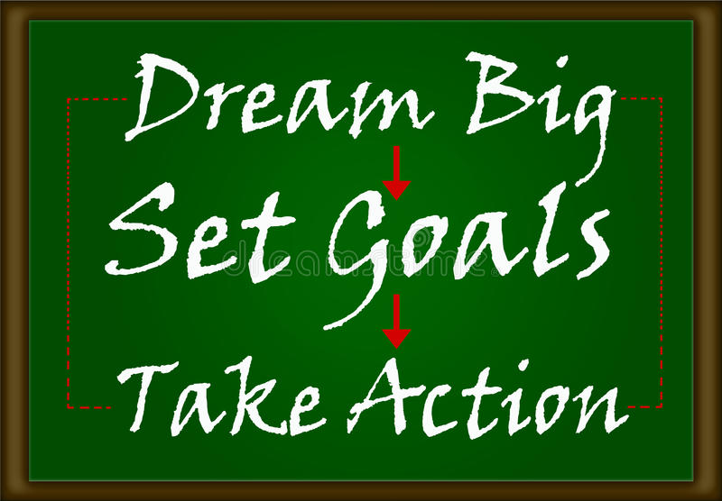 Dream Big, Set Goals, Take Action royalty free stock images