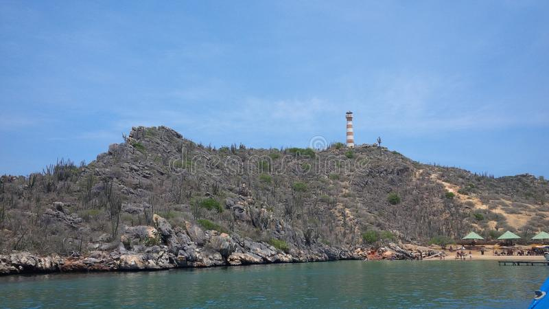 Dream in the Caribbean. Taken on the island of the lighthouse, Puerto la Cruz, Venezuela royalty free stock photography
