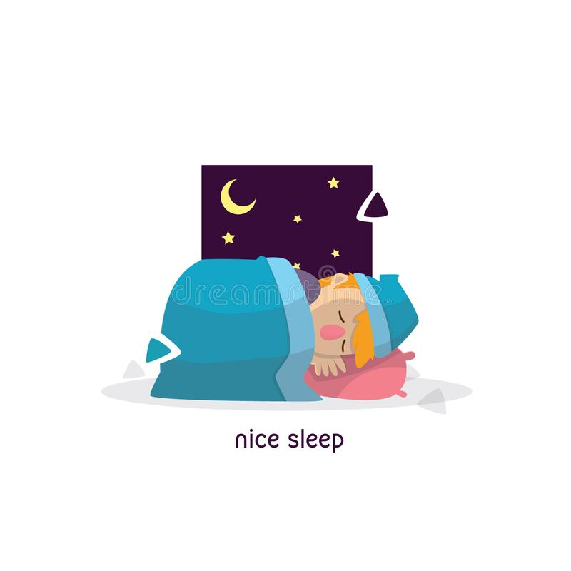 Dream cartoon illustration stock photos
