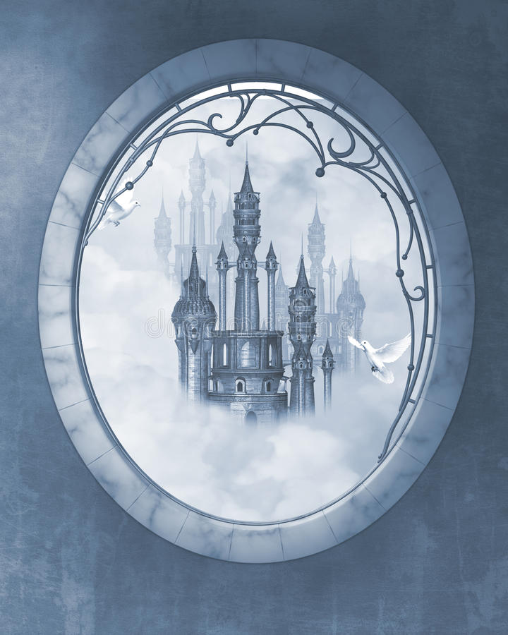 Dream castle stock illustration
