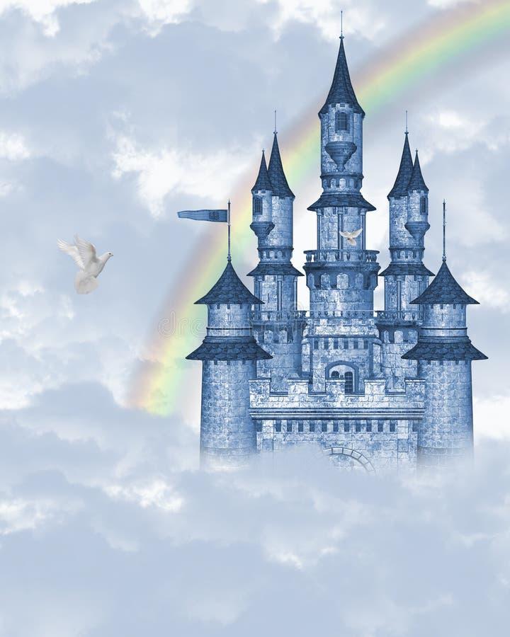 Dream Castle 2. 3d render of dream Castle 2 vector illustration