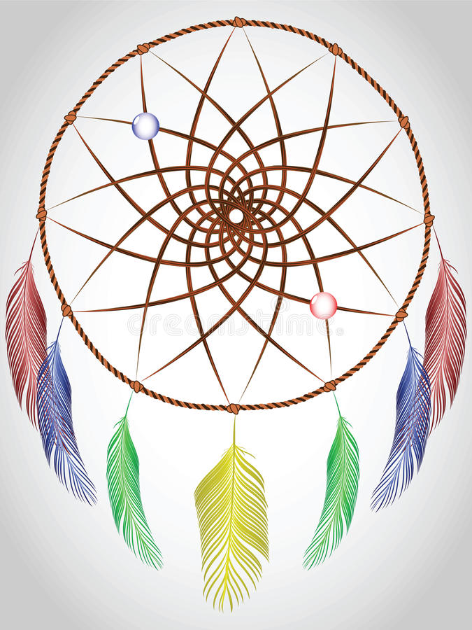 Download Dream catcher stock vector. Image of native, indian, oklahoma - 17116934