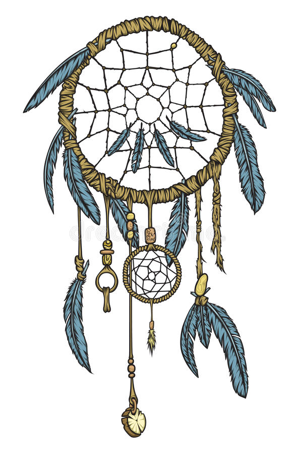 Download Dream Catcher stock vector. Illustration of feather, folklore - 22819350