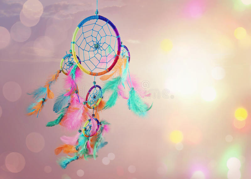 Dream catcher. And abstract bokeh background