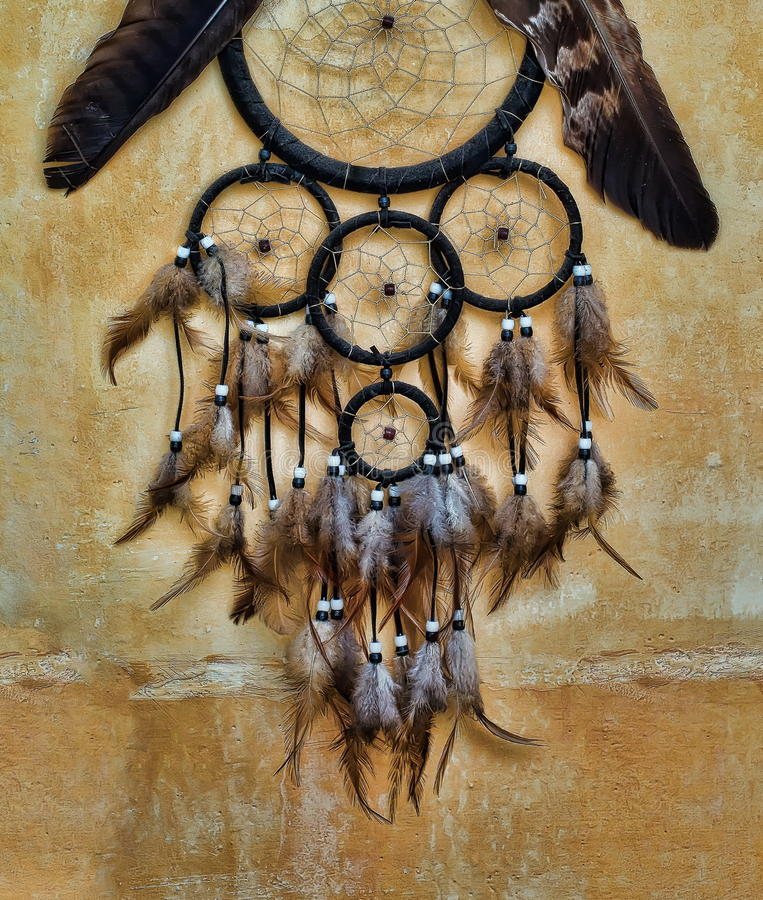 Eagle Feather Dream Catcher Dream Catcher With Eagle And Raven Feathers On Orange Structure 13
