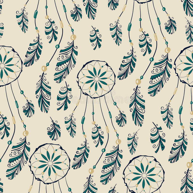 Free Dream Catcher Seamless Pattern Stock Images - 57372264