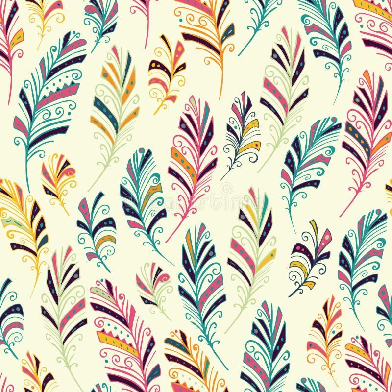 Dream catcher seamless pattern royalty free illustration