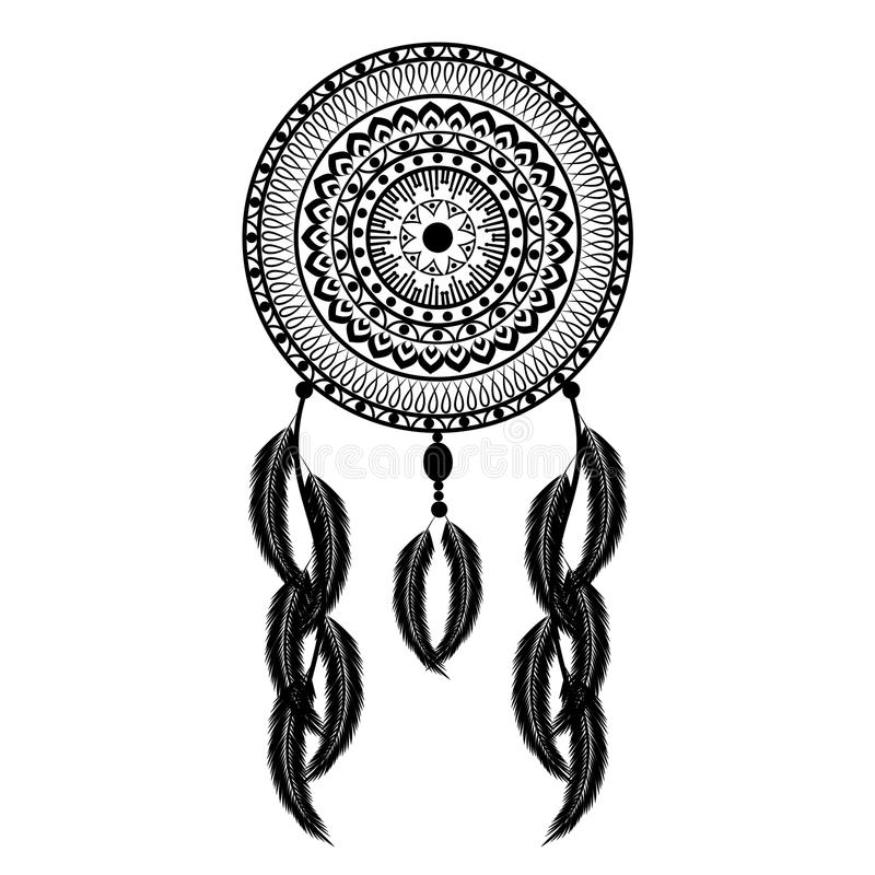 Dream Catcher Vector Illustration stock illustration