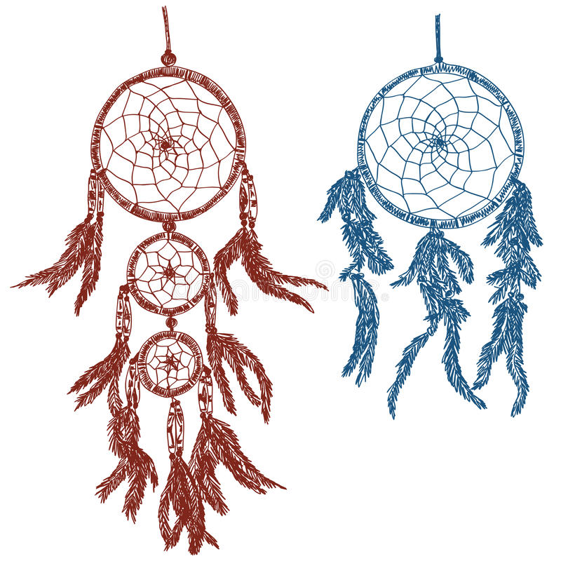 Download Dream Catchers Doodle Royalty Free Stock Photos - Image: 28819578