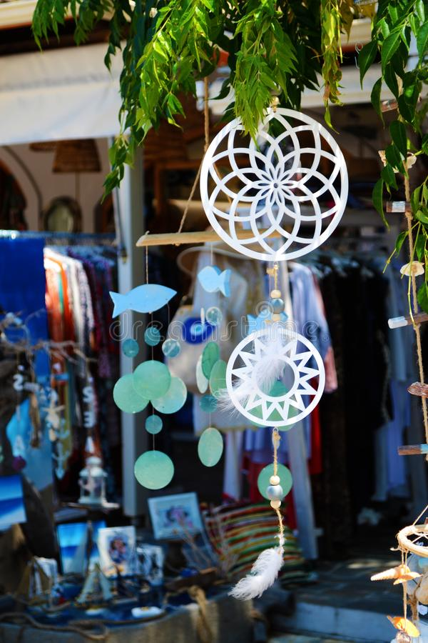 Dream catchers and souvenirs royalty free stock images