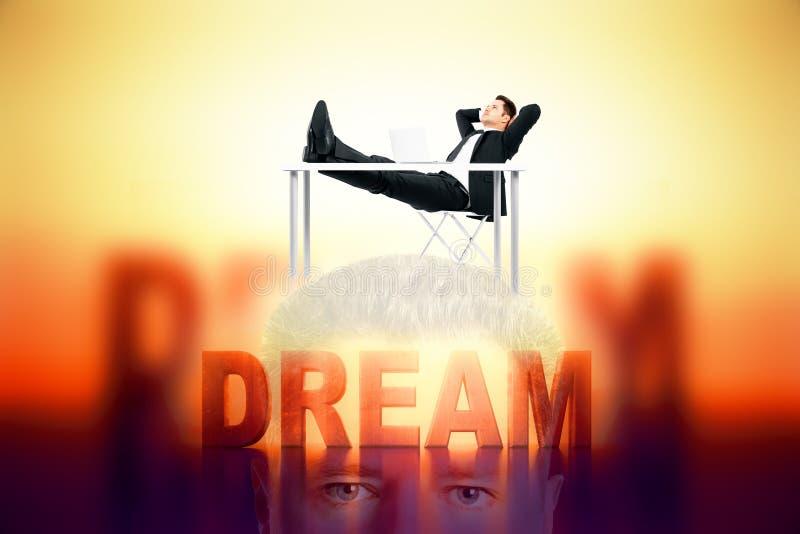 Dream concept royalty free illustration