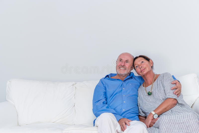 Dream dreaming seniors royalty free stock images