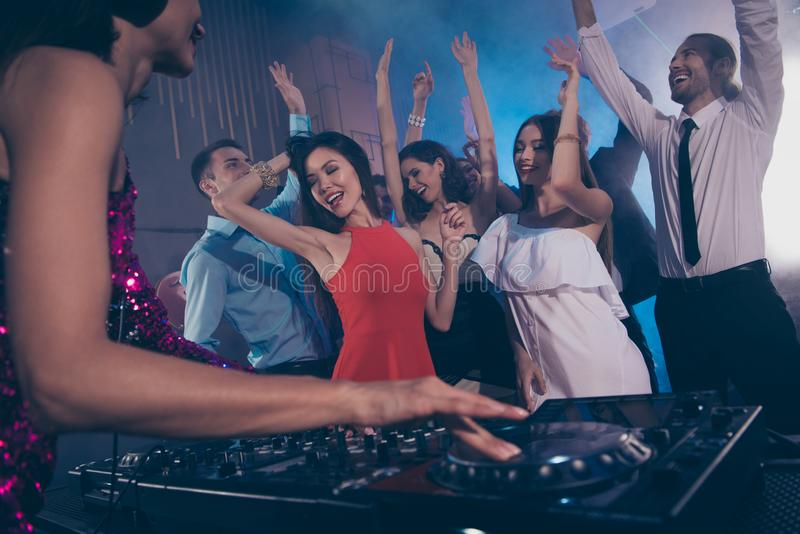 Dream, dreamy entertainment, nightlife concert concept. People m stock images