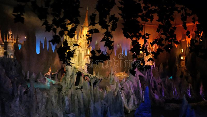 Dream flight ride at theme park The Efteling, Kaatsheuvel, The Netherlands. miniature fairy tale forest. In Duiksehoef, Kaatsheuvel, Netherlands royalty free stock images