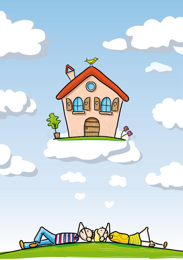 Dream Home royalty free illustration