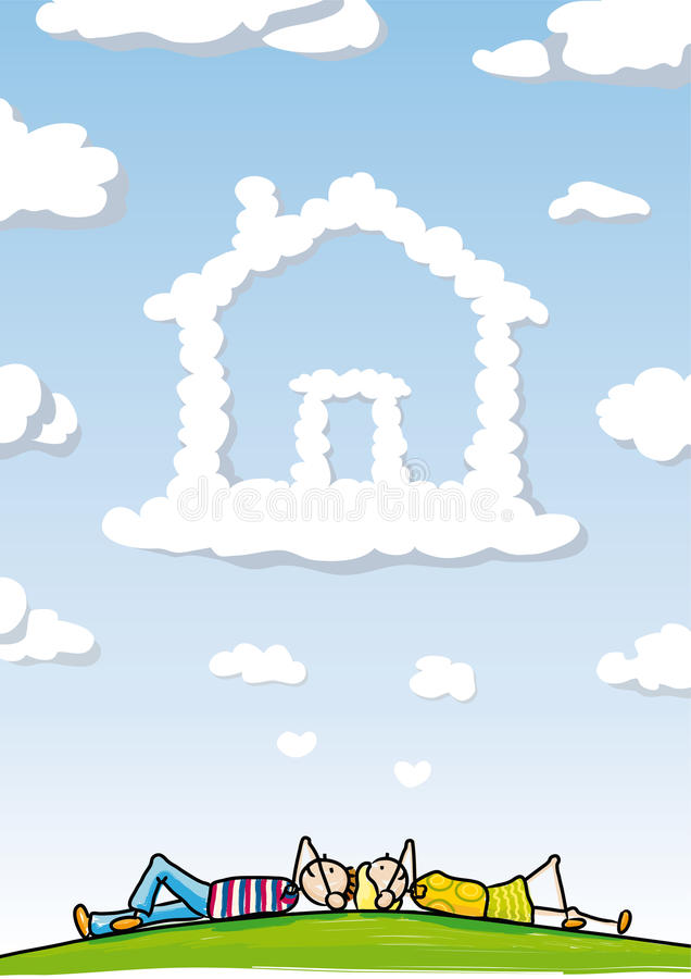 Download Dream Home stock vector. Image of green, flat, flower - 20073202