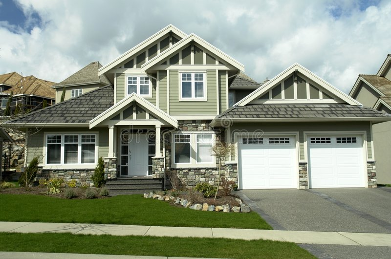 Dream Home. New home built on eagle mountain in abbotsforb, bc royalty free stock image