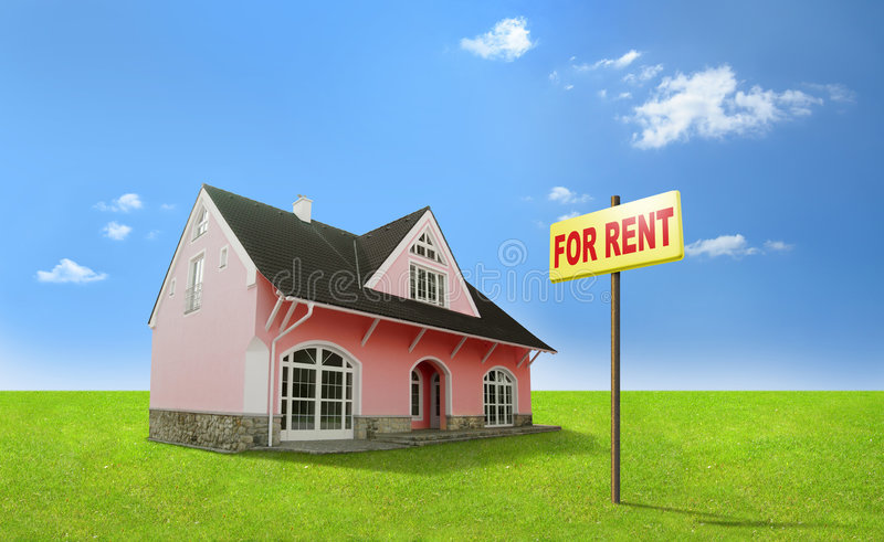 Dream home for rent. Real estate, realty, realtor stock photos
