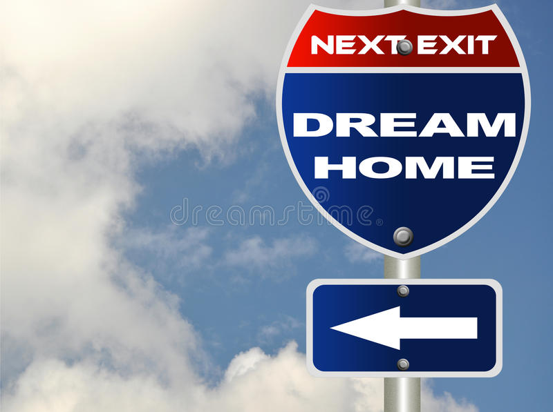 Dream home road sign vector illustration
