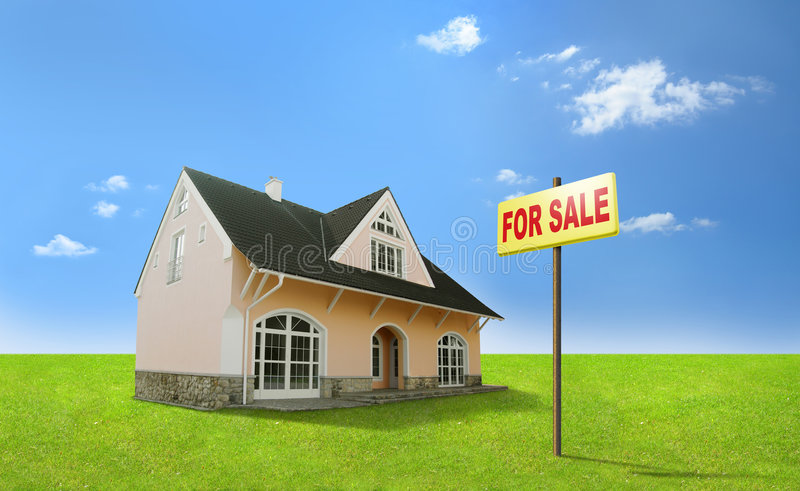 Dream home for sale. Real estate, realty, realtor. stock image