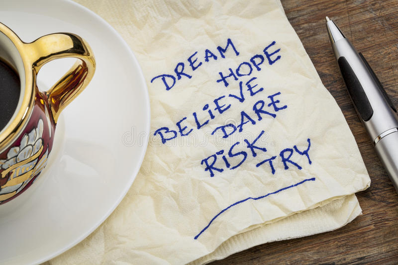 Download Dream, Hope, Believe Stock Image - Image: 34218621
