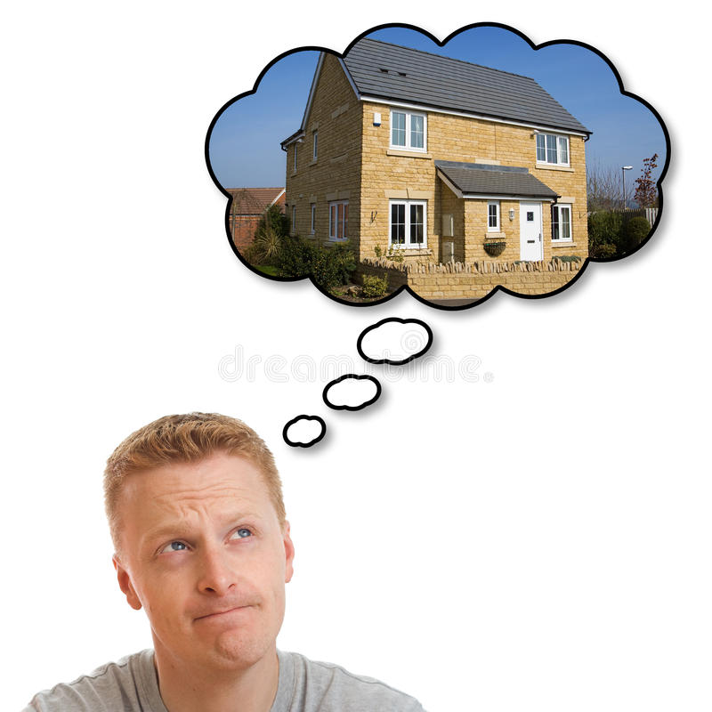Dream house royalty free stock photos
