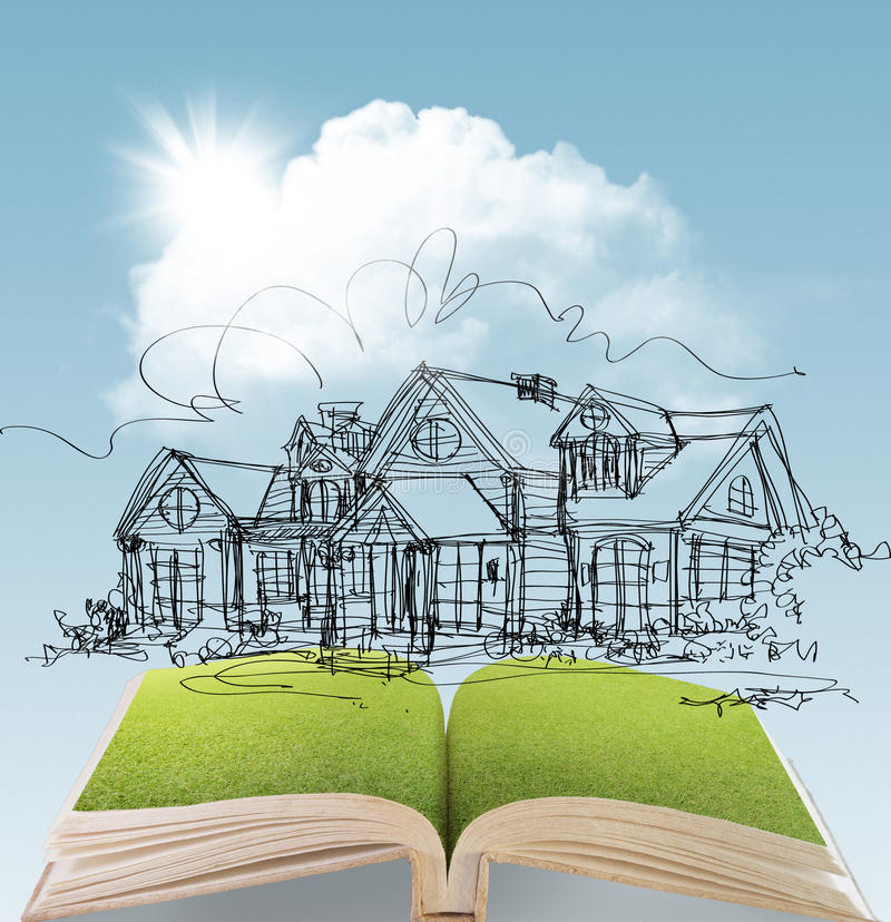 Download Dream house stock photo. Image of cloud, offer, green - 26988672