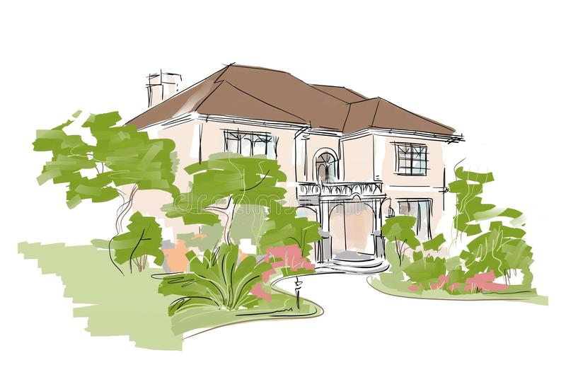 Dream house royalty free illustration