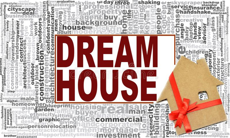 Dream house word cloud vector illustration
