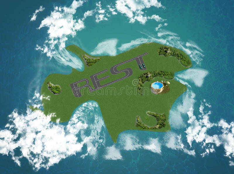 Download Dream Island For Rest Stock Photo - Image: 25627680