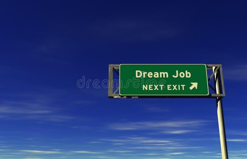 Dream Job - Freeway Exit Sign stock photo