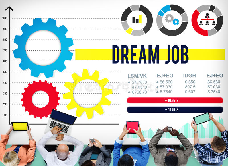 Dream Job Occupation Goals Career Concept stock images