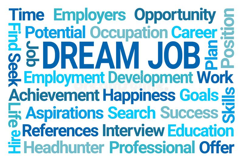 Dream Job Word Cloud royalty free stock photo