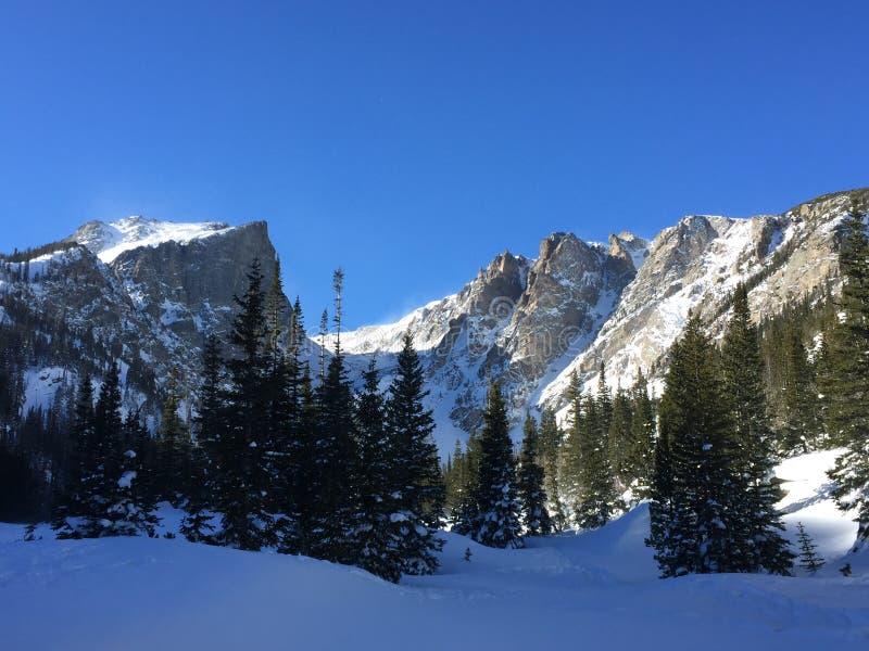 Dream Lake in Rocky Mountain National Park, Colorado stock photography