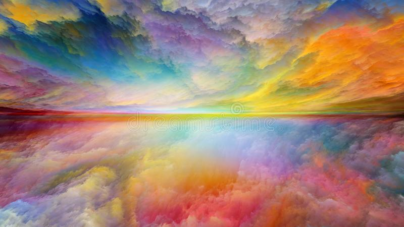 Virtual Life of Abstract Landscape royalty free illustration