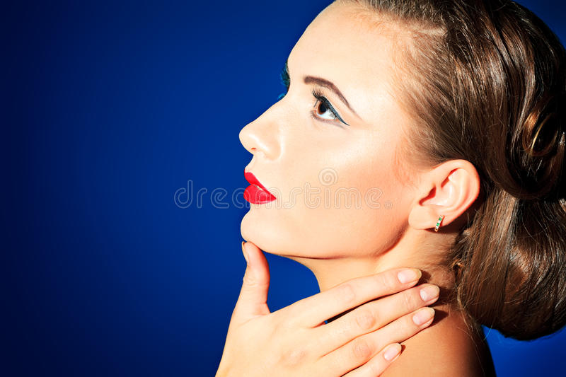 Download Dream look stock photo. Image of lips, fashion, close - 27290258