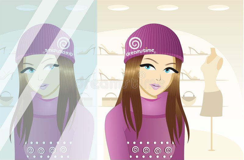 DREAM MAKEOVER AT DREAMSTIME stock illustration