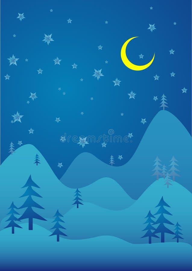 Dream night. Dream winter night illustration stock illustration