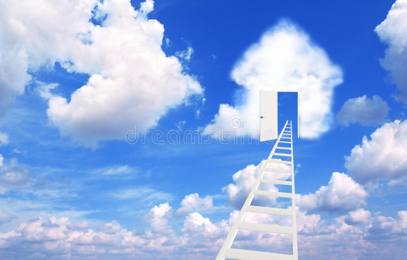 Download Dream of own house stock illustration. Image of flying - 26182789