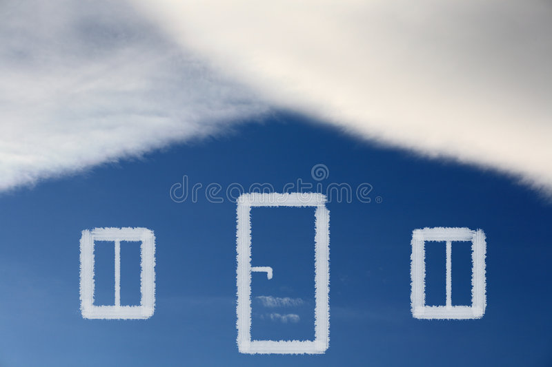 Dream of own house royalty free stock images