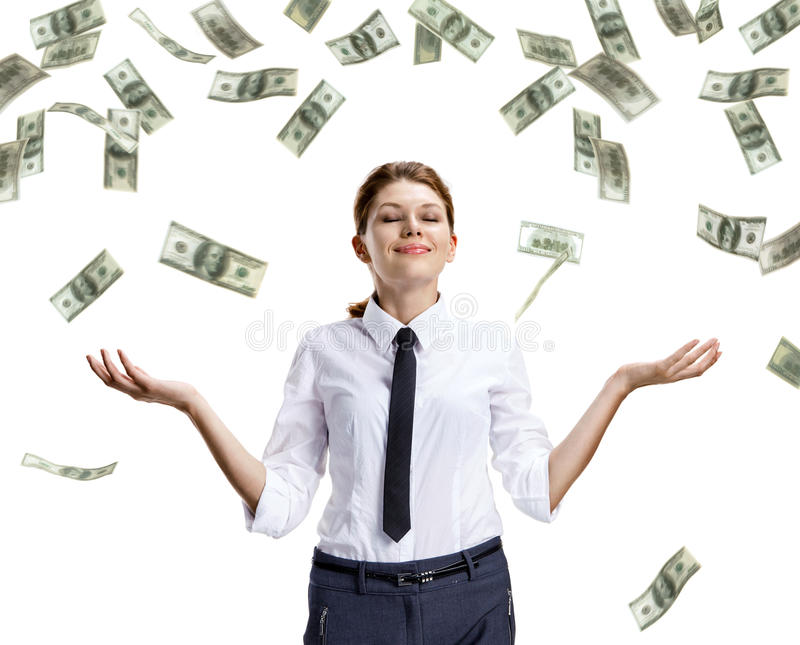 Download Dream of raining money stock image. Image of assistant - 34967657