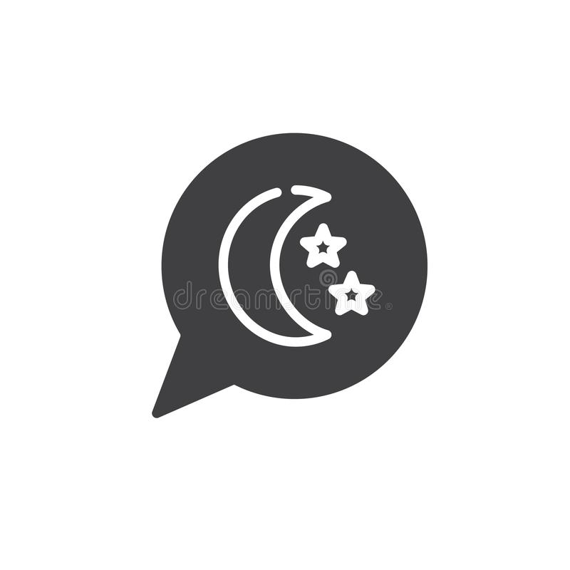 Dream Speech Bubble with moon and stars icon vector vector illustration