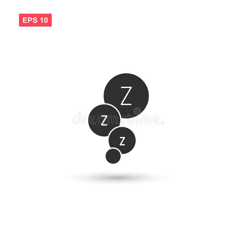 Dream speech bubble z letter icon isolated 4. Eps10 royalty free illustration
