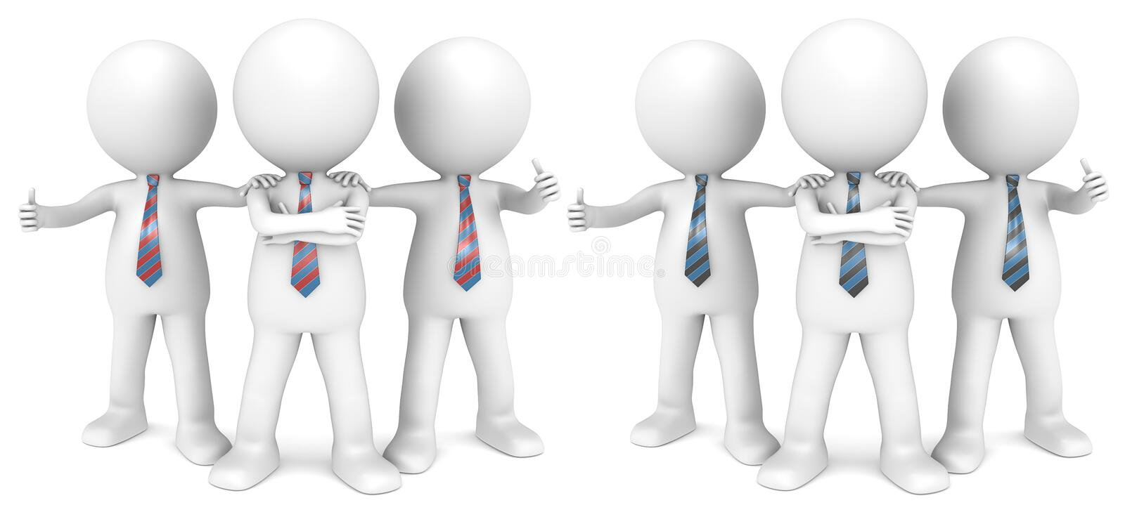 Download The Dream Team. stock illustration. Image of confident - 27874183