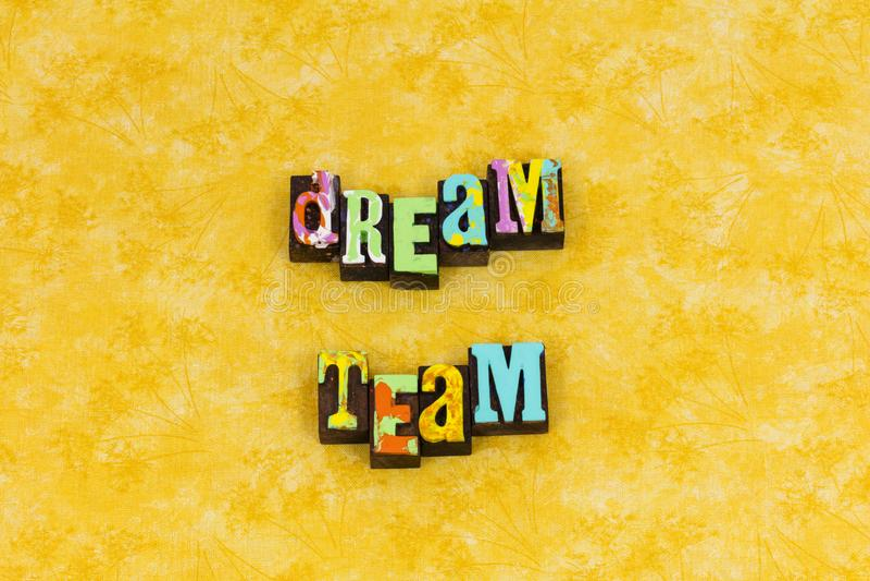 Dream team teamwork volunteer together royalty free stock photos