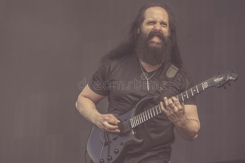 Dream Theater, John Petrucci live concert 2019. Dream Theater is an American progressive metal band formed in 1985 under the name Majesty by John Petrucci, John stock photography