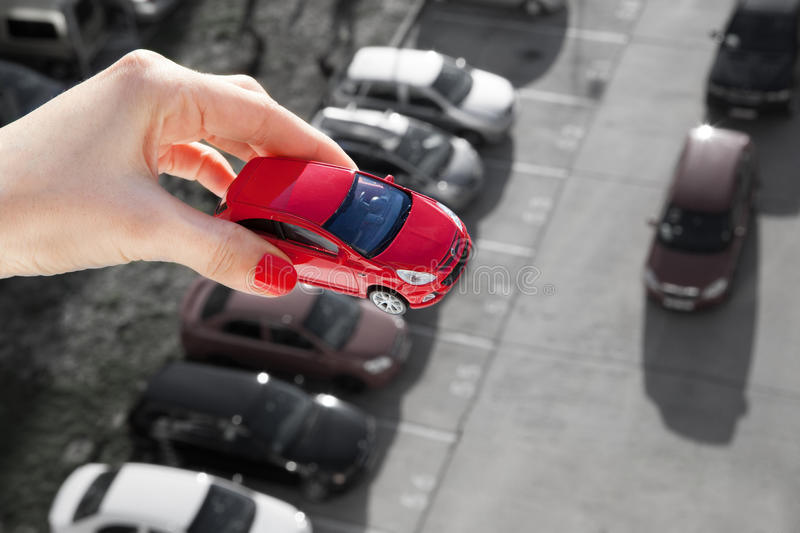 Dream to have a car. royalty free stock photo